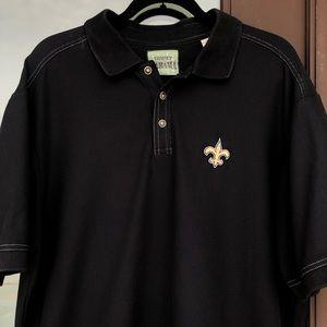Tommy Bahama Black New Orleans Saints Polo XL